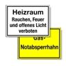 Hinweisschilder für Heiz- und Tankanlagen